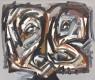 Antonio Saura, Autoportrait- Nº 2, 1989 — Cortesía del Salón de Arte Moderno