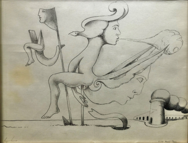 Raúl Perez + Cruzeiro Seixas, Sem Título. 2003. Desenho x Papel, 24 cm x 31 cm — Cortesía de la Galeria de São Mamede