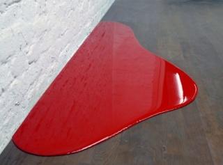Rainer Splitt, Farbguß (Barcelona), 2013, 165 x 65 cm.