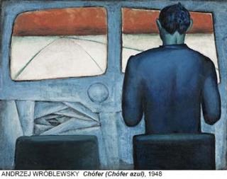 Andrzej Wróblewski, Chófer (Chófer azul), 1948