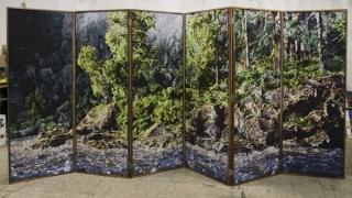 """Philipp Fröhlich: \""""Paravent (171)\"""", biombo compuesto por 6 puertas"""