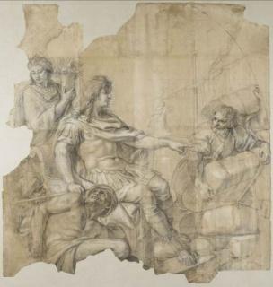 Charles Le Brun, Restablecimiento de la navegación, Museo del Louvre. © RMN-Grand Palais (Musée du Louvre) / Gérard Blot