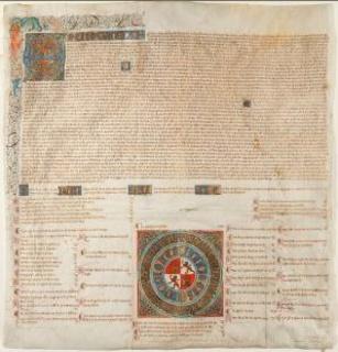 Juan II, Rey de Castilla y León: Privilegio rodado por el que se hace ciudad a la villa de Frías. Valladolid, 12 de marzo 1435. Inventario 538.