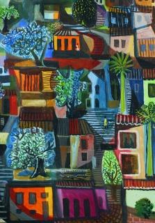 Di: Favela, 1958. Óleo sobre pantalla, 100 x 80 cm. Colección Rose y Alfredo Setúbal. Fotógrafo: Alejandro Silva.
