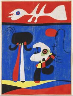 JOAN MIRÓ / Sin título (Diseño para estarcido), ca. 1946. Fundació Joan Miró. © Successió Miró 2018 – Cortesía del IVAM