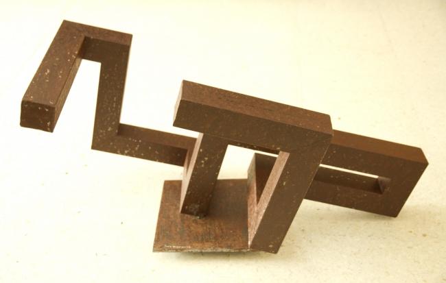 Jesús Pérez Hornero. Arado. Soldadura / Hierro oxidado. 47 x 83,5 x 43