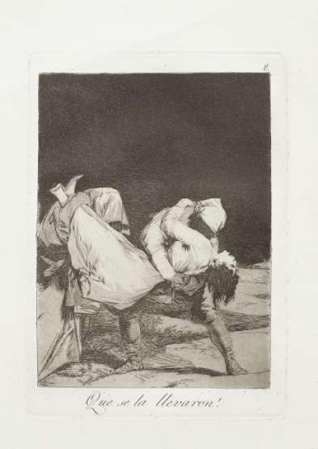 Francisco de Goya y Lucientes. Que se la llevaron!, serie Los Caprichos (1868) — Cortesía del Museo de Bellas Artes de Asturias