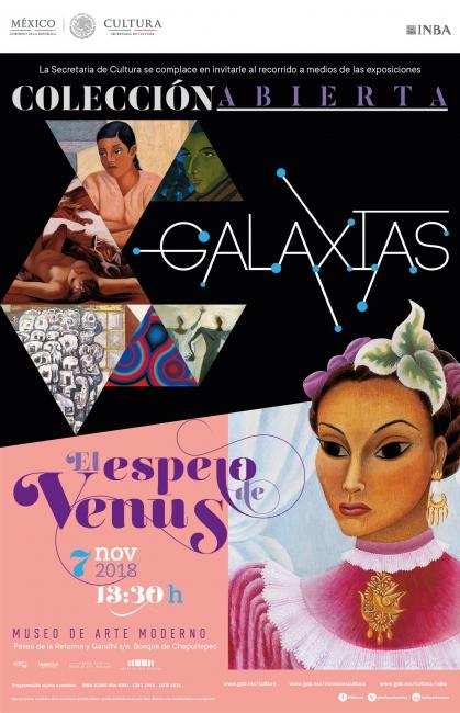 Galaxias y El espejo de Venus. Imagen cortesía Museo de Arte Moderno