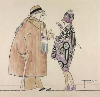Desenho de J. Carlos a revista Para Todos (11-07-1925). Coleção Eduardo Augusto de Brito e Cunha / Acervo IMS