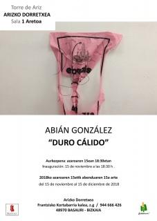 Abián González. Duro cálido