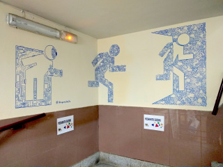Segundo premio: Yoshihito Suzuki — Cortesía de Madrid Street Art Project