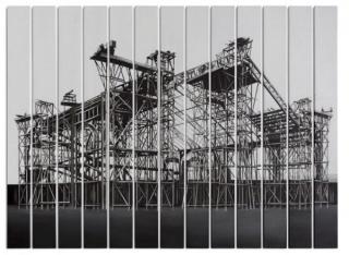Viviana Zargón, Palais des Machines, acrílico sobre tela, políptico 13 piezas de  200x19 cm. c/u., 201