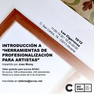Introducción a Herramientas de profesionalización para artistas