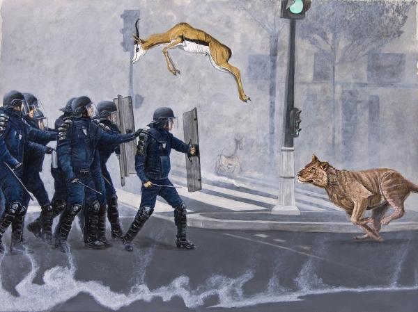 Gunga Guerra, Se Correr o Bicho Pega, pintura