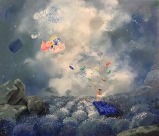 Carmela Piñón, Despertar, 70x80 cm. – Cortesía de Galería Juan Risso