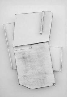 Miguel Angel Oribe, Hueco IV, 2018. Madera, acrílico, 48x32x8 cm. – Cortesía del artista