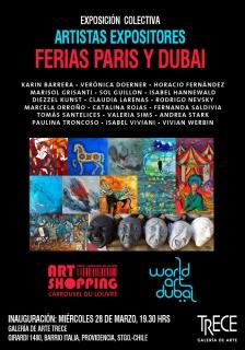 ARTISTAS EXPOSITORES EN PARIS Y DUBAI. Imagen cortesía Galería de Arte Trece