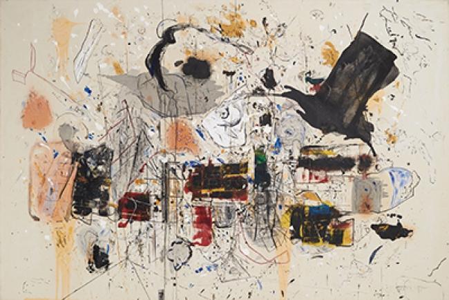"""Marcelo Legrand """"El mago y la galera"""". Técnica mixta, 148 x 220 cm, 2012-2018"""