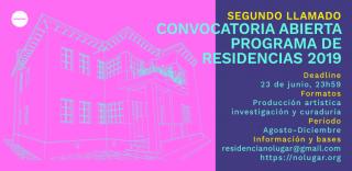 Segundo llamado Programa de Residencias de No Lugar - Convocatoria 2019