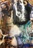 © Juan Luis Goenaga. Urdin, ocres ta beltza Óleo, esparto y pigmentos sobre papel eskulan. Olio, espartzu eta pigmentuak eskuz eginiko paper gainean 50 x 70 cm. — Cortesía de la Galería Luis Burgos