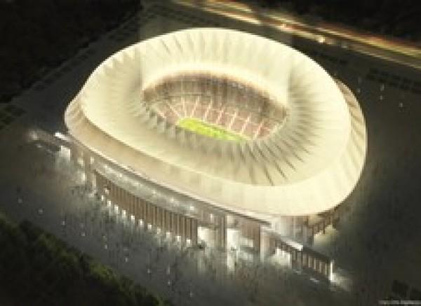 Proyecto del nuevo estadio del Club Atlético de Madrid La Peineta @CruzyOrtiz