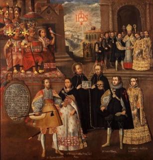 «Matrimonios de Martín de Loyola con Beatriz Ñusta y de Juan de Borja con Lorenza Ñusta de Loyola» del Museo de Osma de Lima — Cortesía del Instituto Cervantes
