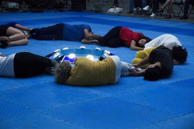 BLUE: CONTACT LINE:RED. Irati Inoriza — Cortesía del Centro Cultural Montehermoso