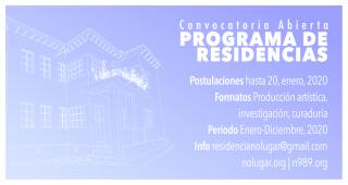 Programa de Residencias de No Lugar - Convocatoria 20120