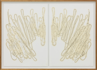 VERA MOTA Untitled, 2020. Oil and linseed oil on paper, 78×109 cm. Courtesy of Bruno Múrias