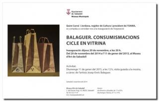 Balaguer. Consumismacions