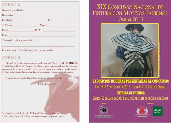 XIX Concurso Nacional de Pintura con Motivos Taurinos. Osuna 2015