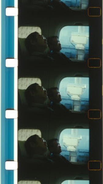 João Maria Gusmão and Pedro Paiva, Sleeping in a bullet train, 2015. 16mm film, color, no sound, 8:08 minutes