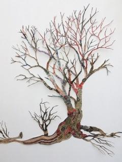 I was that tree (detail) - Máximo González, money paper collage