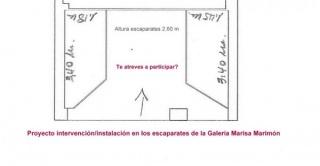 Intervención/instalación en los escaparates de la Galería Marisa Marimón