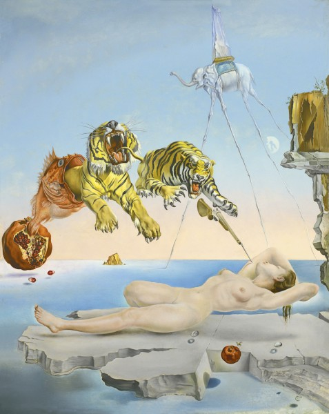 Salvador Dalí, Dream Caused by the Flight of a Bee around a Pomegranate a Second Before Awakening, 1944