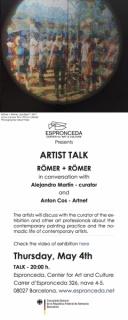 Invitation Artist talk Romer + Romer