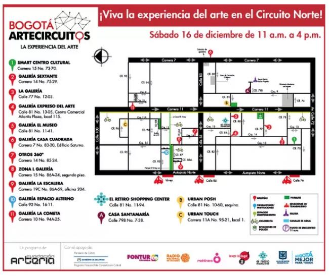 ARTE CIRCUITOS NORTE DE BOGOTÁ 2017. Imagen cortesía Otros 360º