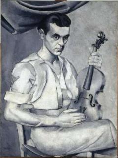 Luis Fernández. Retrato, c. 1934- 1935. Museo Nacional Centro de Arte Reina Sofía, Madrid — Cortesía del Museo de Bellas Artes de Asturias