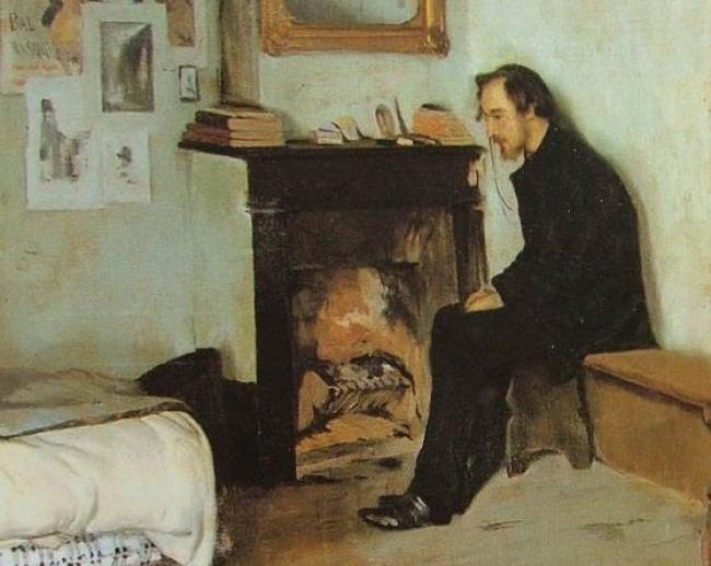 """""""Un bohemi. Retrat d'Erik Satie"""", Santiago Rusiñol — Cortesía de la Sala Parés"""