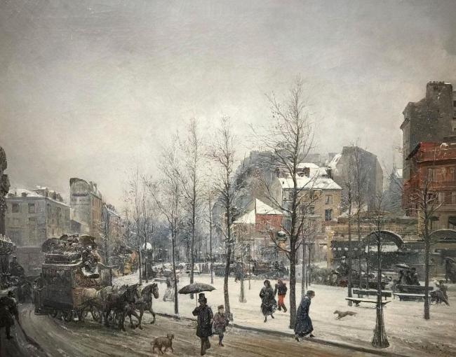 """""""Boulevard Clichy"""", de Ramon Martí Alsina — Cortesía de la Sala Parés"""