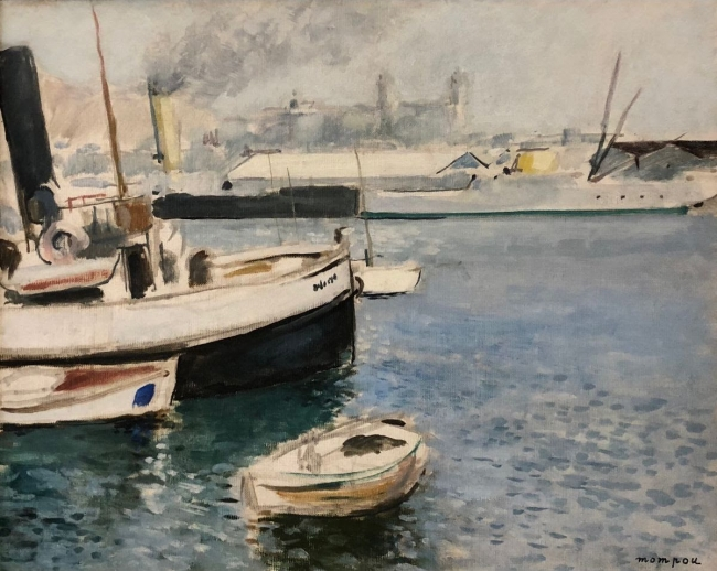 """El Remolcador. Port de Barcelona"", de Josep Mompou — Cortesía de la Sala Parés"