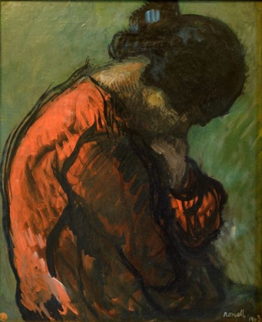 Isidre Nonell, Étude. Gitana, 1903. Oli sobre tela, 66,5 x 54,5 cm. — Cortesía de la Sala Parés