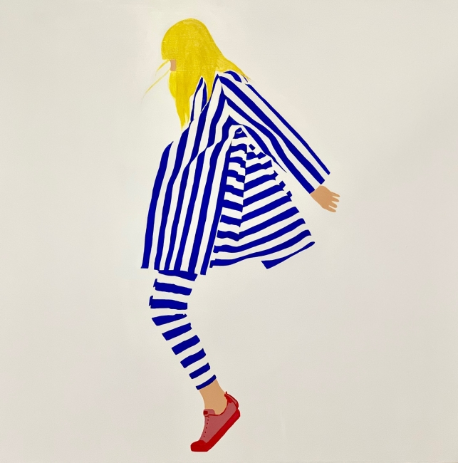 Lady & Stripes 90 x 90 cm
