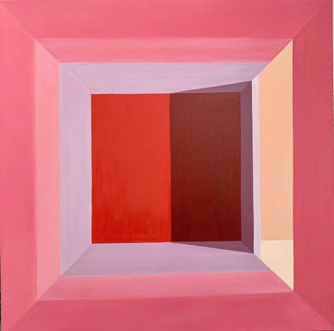 Pink room 100 x 100 cm Técnica mixta sobre lienzo