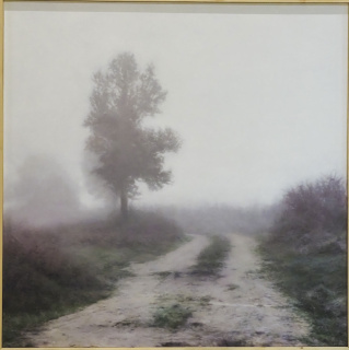 Guillermo Sedano, 'Niebla', obra ganadora del XXI Certamen de Pintura ACOR — Cortesía de Sociedad Cooperativa General Agropecuaria ACOR