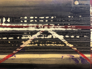 Ricardo Cavada: Sin título (detalle), 2001. Acrílico sobre lienzo. 195x162 cm. — Cortesía de la Galería Juan Silió