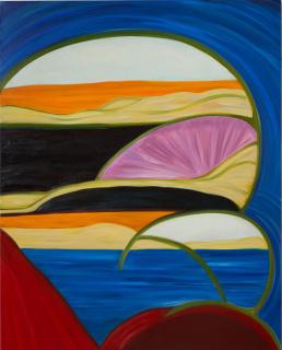 "Marina Perez Simão, Untitled, 2021, oil on canvas, 79"" × 63-1/4"" (200.7 cm × 160.7 cm) © Marina Perez Simão — Cortesía de Pace Gallery"