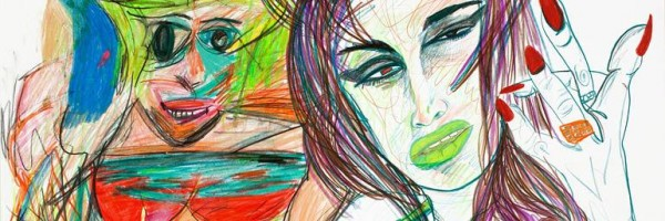 Untitled (detail), 2012. Rachel Harrison (American, b. 1966). Colored pencil on paper; 56.8 x 70.8 cm. Private collection, New York. Courtesy Greene Naftali, New York. Photo: John Berens.