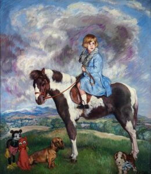 Ignacio Zuloaga y Zabaleta (Spanish, 1870-1945), Equestrian Portrait of María del Rosario Cayetana Fitz-James Stuart y de Silva, Eighteenth Duchess of Alba, 1930. Oil on canvas. Colección Duques de Alba