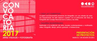CONVOCATORIA 2017 ARTES VISUALES Y FOTOGRAFÍA